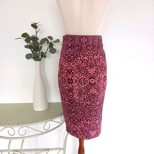 Witchery Pencil Skirt Size 10 Pink &  Black